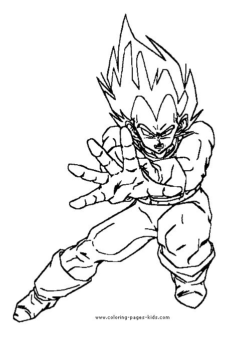 dragon ball z color page coloring pages for kids cartoon - Super Saiyan Gohan Coloring Pages