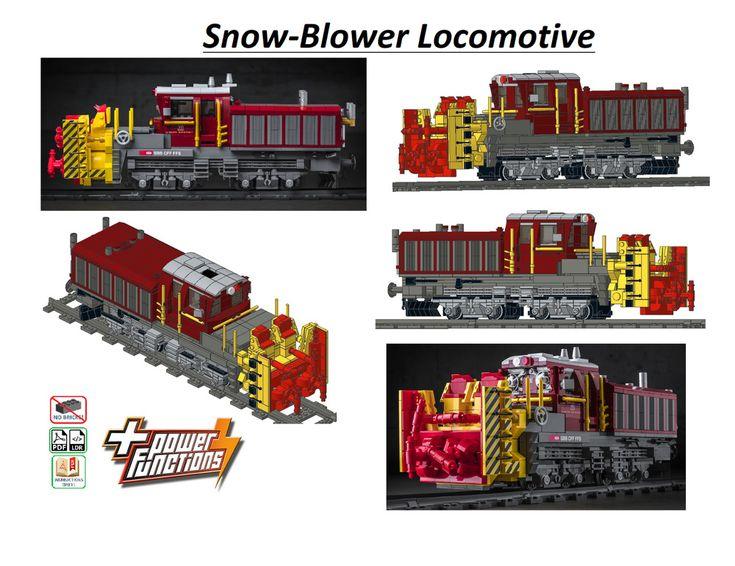 LEGO MOC Trains SnowBlower (Power Functions