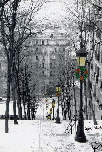 La neige de Noël à Paris