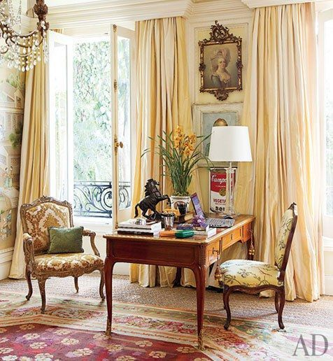 awesome A Restoration Hardware lamp is paired with an 18th-century bureau plat in the ma... by http://www.99-home-decorpictures.space/traditional-decor/a-restoration-hardware-lamp-is-paired-with-an-18th-century-bureau-plat-in-the-ma/