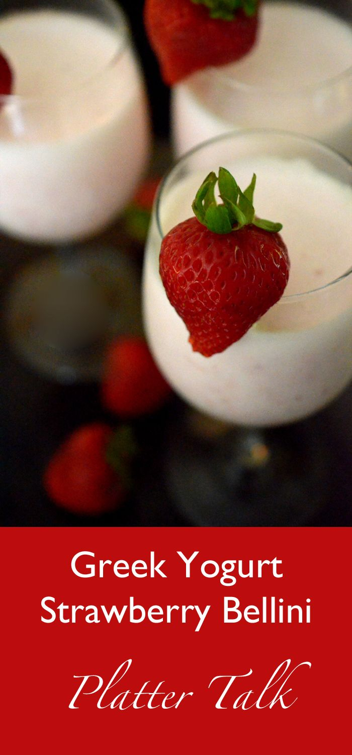 Greek Yogurt Strawberry Bellini - Platter Talk