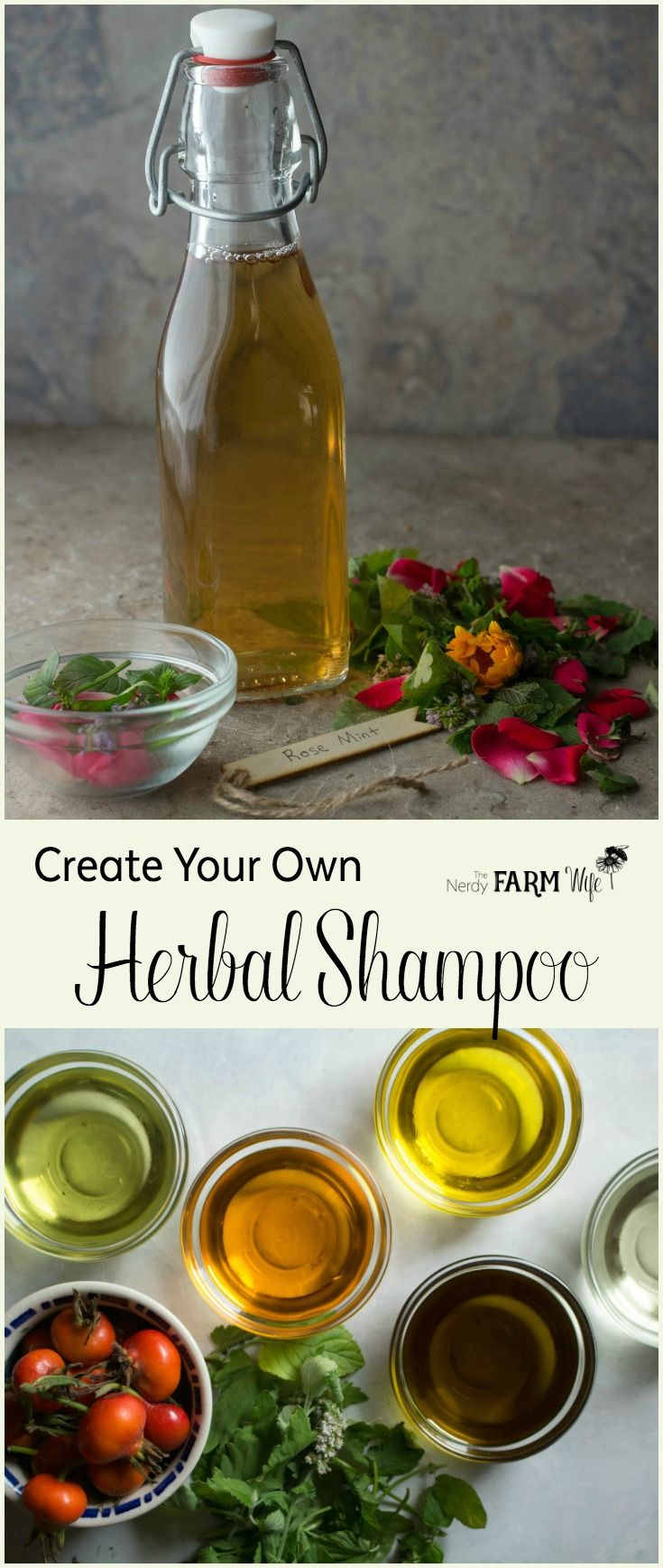 How to Make Your Own Homemade Herbal Shampoo and customize it with nourishing herbs and essential oils.