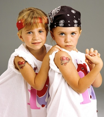 Marie-kate and Ashley olsen as Michelle from FULL HOUSE :)