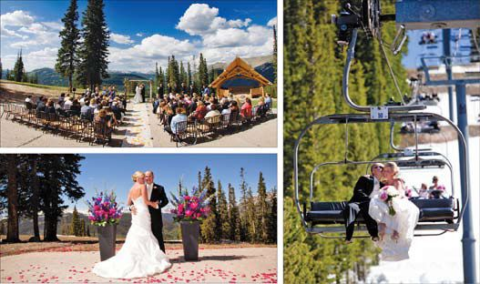 Weddings at Copper Mountain Resort, Copper Mountain, Colorado.