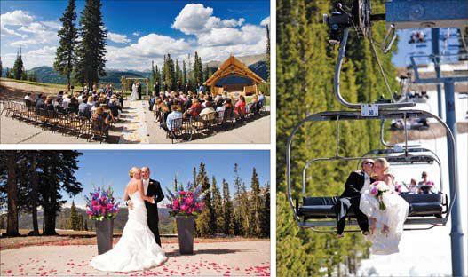 Weddings at Copper Mountain Resort, Copper Mountain, Colorado.