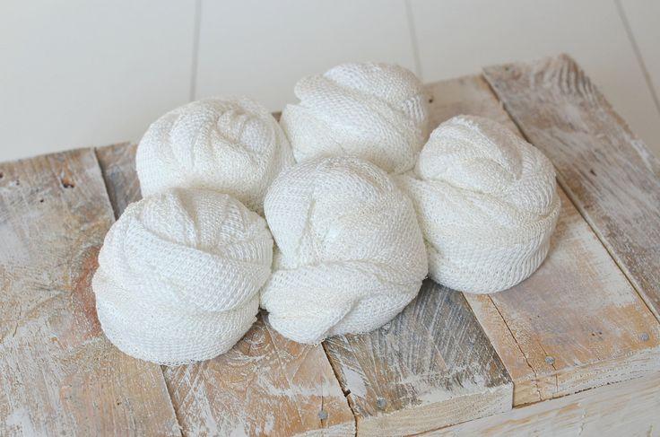 SALE - Textured Newborn wrap, Reversible sweater knit wrap, cream white photography wrap, Newborn photo prop, Stretch Knit wrap off white by mokumba on Etsy