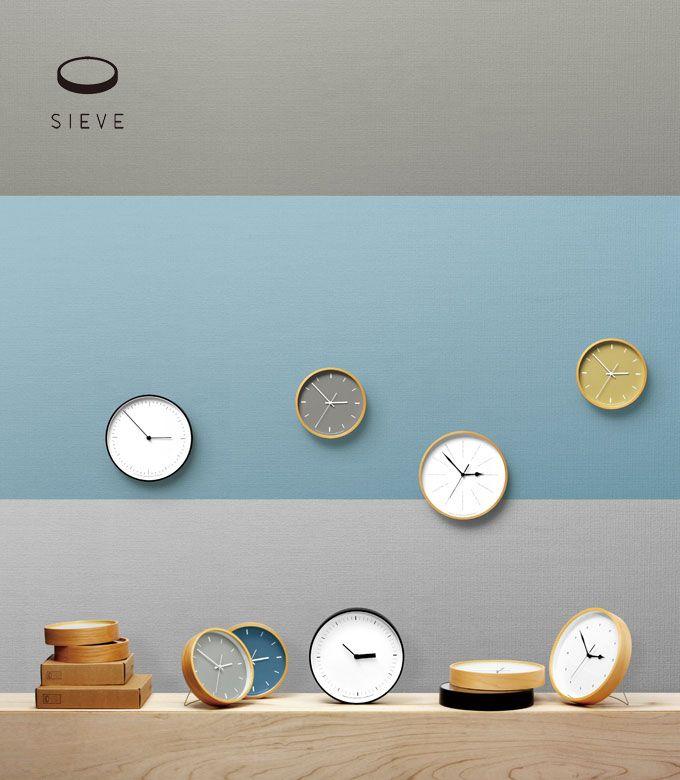 掛け時計 seive 時計 paint[ペイント]