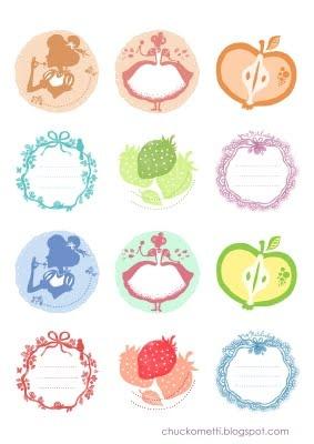 gorgeous jar lables by chuckometti