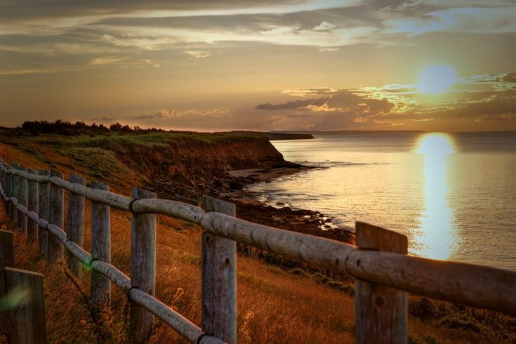 This gorgeous sunset was found on the shores of PEI - the red rock is a dead giveaway.
