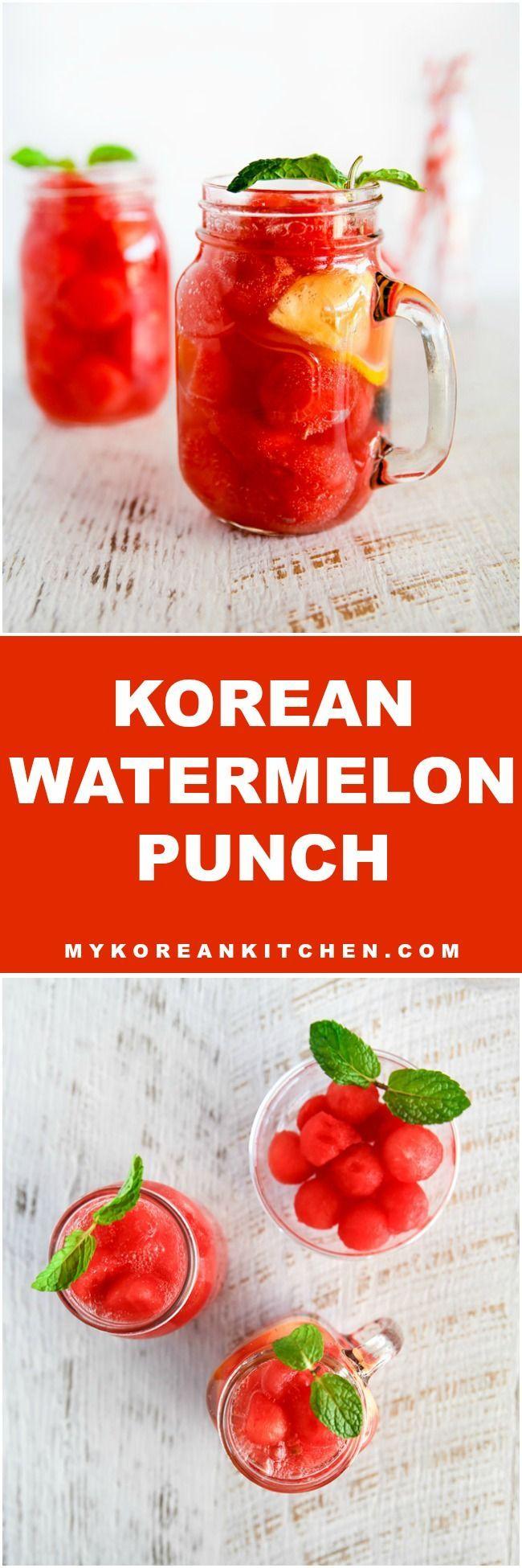 How to Make Korean Watermelon Punch   MyKoreanKitchen.com