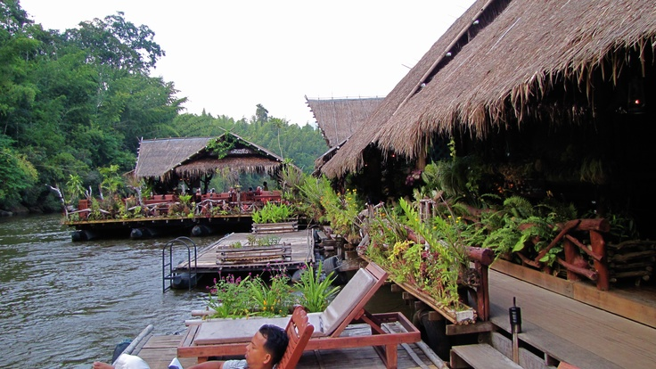 floating hotel River Kwai, Thailand