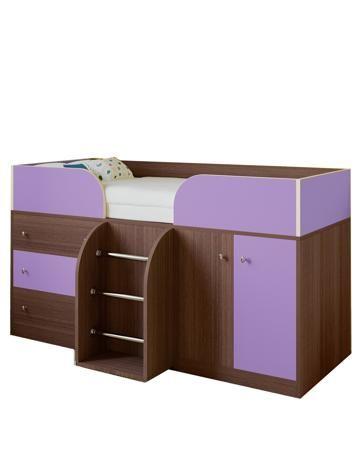 РВ мебель Астра 5 дуб шамони/фиолетовый  — 13900р. ------------- Кровать-чердак Астра 5 дуб шамони/фиолетовый РВ мебель порадует вас возможностью компактно разместить детские вещи и при этом сэкономить жизненное пространство.