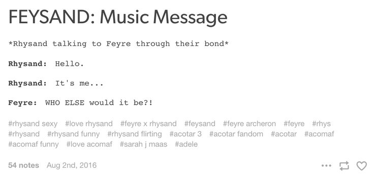 Feyre and Rhysand music message
