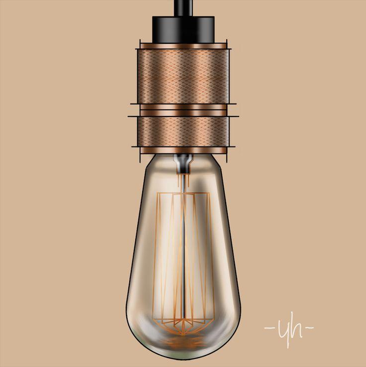 #Buster&Punch #Pendant #LED #Lightbulb. Created using #SketchBookPro #productdesign #industrialdesign #idsketching