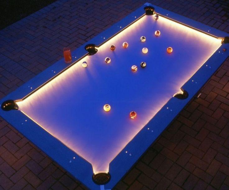Illuminated Edges Pool Table