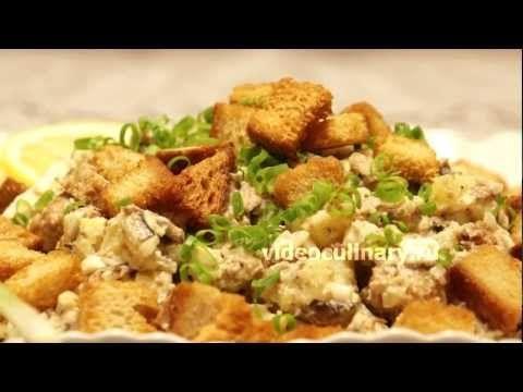 Картофельный салат со шпротами – рецепт Видео Кулинарии