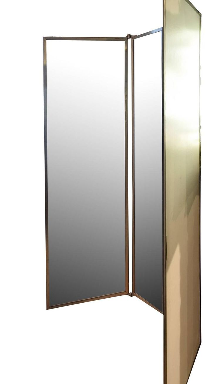 Folding bathroom mirror - Tri Fold Dressing Room Mirror From A Unique Collection Of Antique And Modern Floor