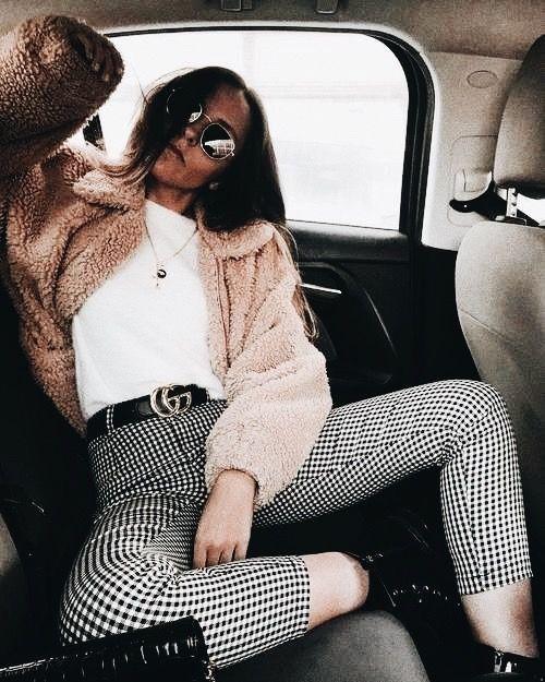 Checkered pants. Fall/winter fashion trends ❤️ pinterest: @Ajlamoonlight