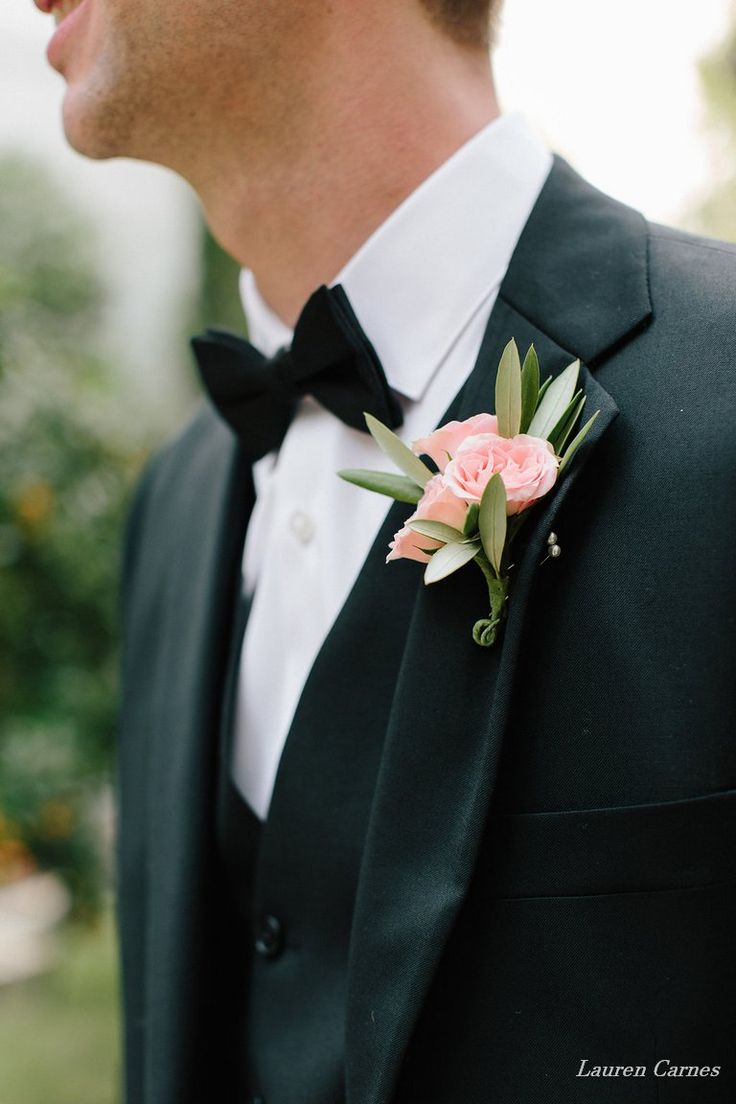 gardenia floral design | pink spray roses and olive leaf boutonniere