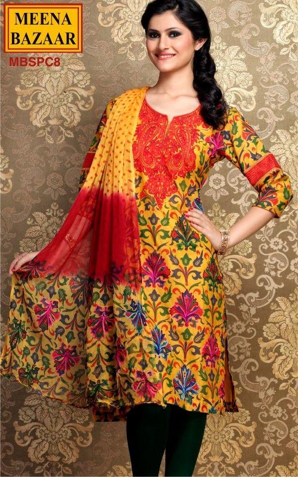Indian Wedding Clothes   Indian wedding dresses 2013   Meena bazaar new collection   Best party ...