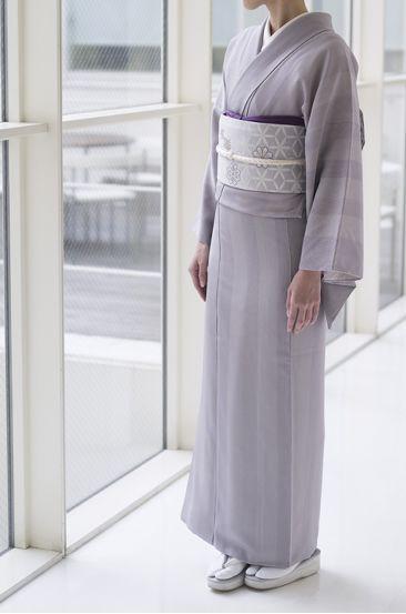 お洒落な普段着物、東京 六本木の帯,きものブランド awai|週末のお洒落着物/コーディネート | 色で選ぶ江戸小紋