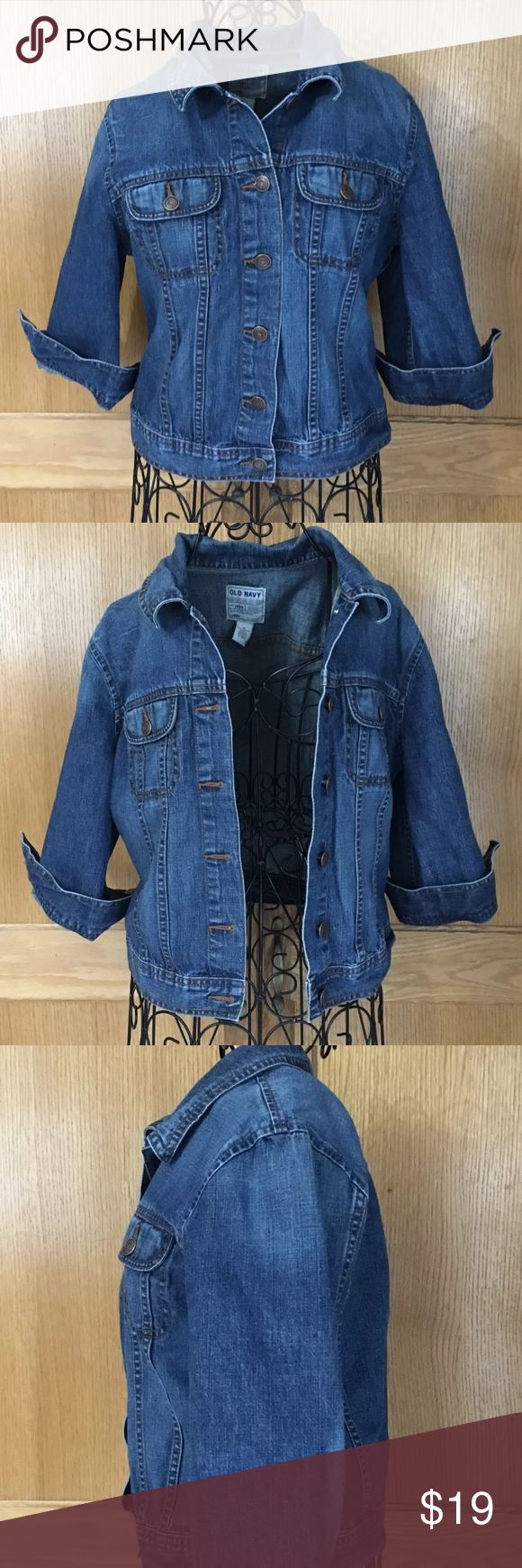 Old Navy Womens Jean Jacket Size M Color Blue Old Navy Womens Jean Jacket Size M Color Blue Old Navy Jackets & Coats Jean Jackets