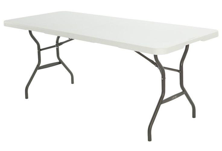 Mesa plegable de acero y resina catering lifetime ref - Patas de mesa leroy merlin ...
