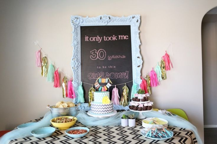 Ashley s 30th birthday party to be this weekend and for 30th birthday decoration ideas for her