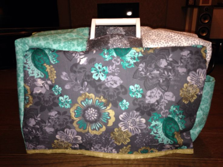 Sewing machine cover from fat quarters.