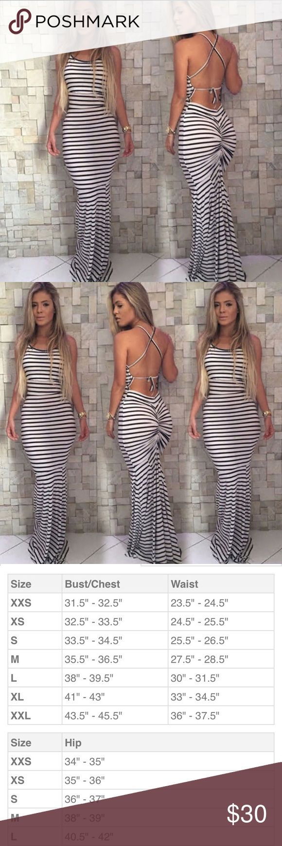 Sexy summer dress! Black and white sexy summer maxi dress. This dress is so fabulous! Dresses Maxi