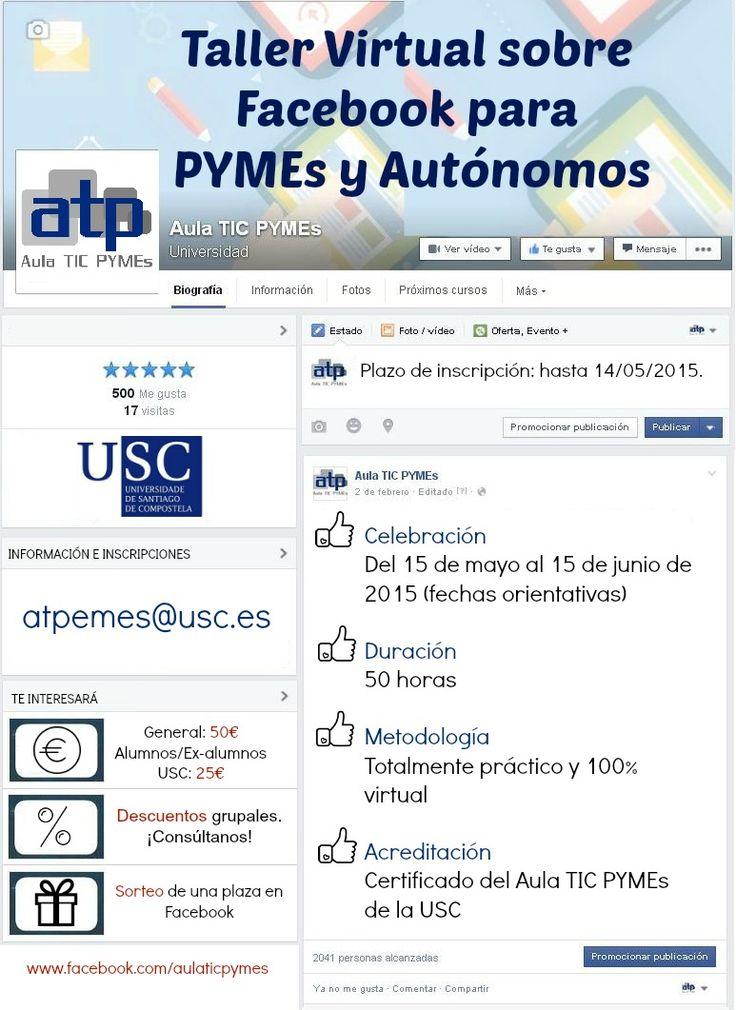 Taller Virtual sobre Facebook para PYMEs y Autónomos (II Edición) - Más info: http://bit.ly/1c4j4r8