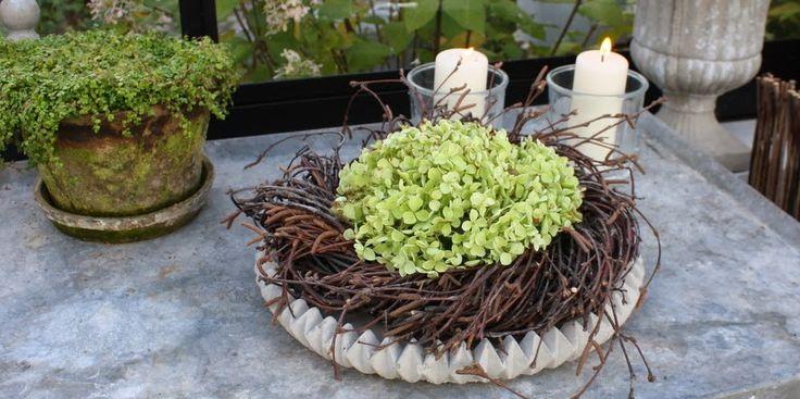 KRANS AF HORTENSIA - Hydrangea wreath