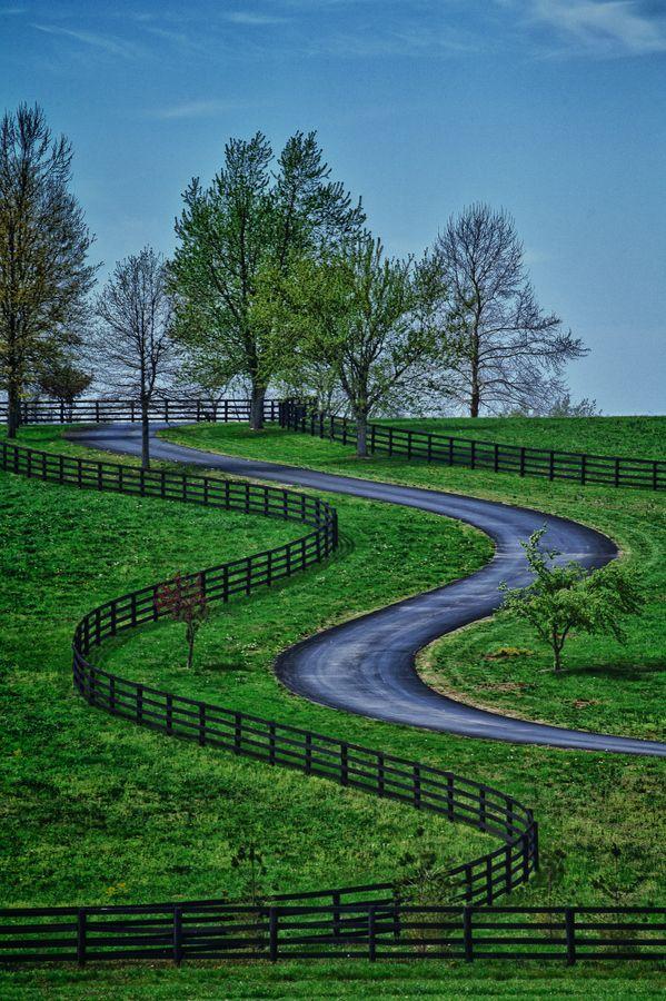 """Kentucky Road"" by John Barrett, via 500px. - along lifes twists and turns"