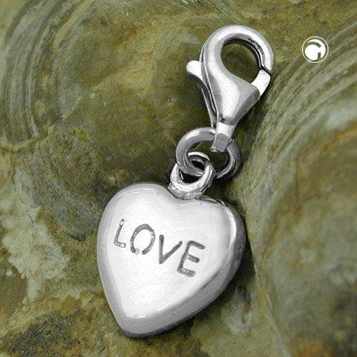 Berlock Hjärta LOVE Äkta Silver