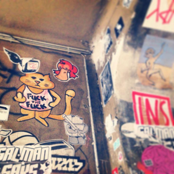Ich Bin ein berliner in berlin-ac kitty cat on a wall