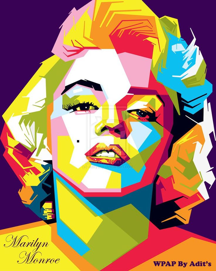 Marilyn Monroe Wpap by adityasp   | This image first pinned to Marilyn Monroe Art board, here: http://pinterest.com/fairbanksgrafix/marilyn-monroe-art/ || #Art #MarilynMonroe