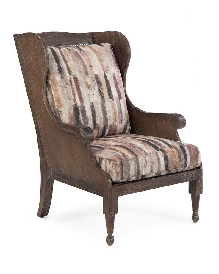 Scandinavian Wing Chair - Upholstered Exposed Wood - Upholstered Furniture - Our Products