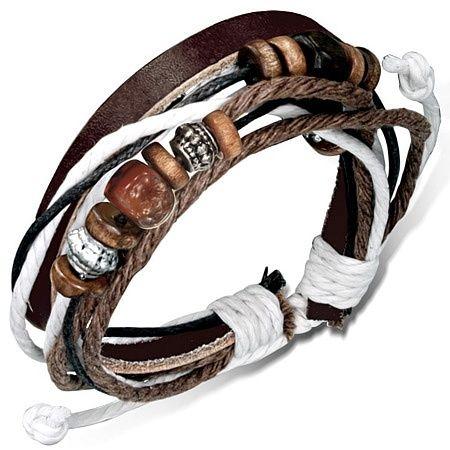 Stoere leren armband K600 | LEREN (surf) ARMBANDEN | Sieraad bijoux online - Idhuna Jewels