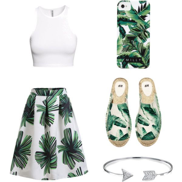 Geen titel #17 by ninavanoss on Polyvore featuring polyvore, mode, style, H&M, Bling Jewelry and Milly