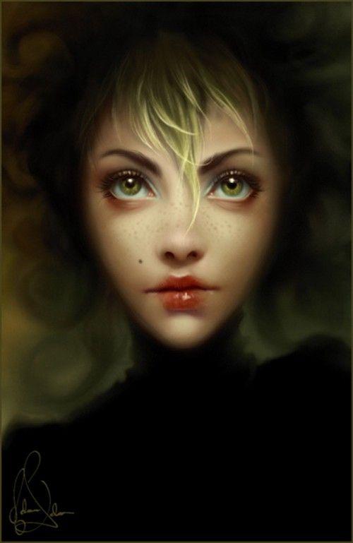 Интересные женские портреты. Компьютерная... живопись.. Обсуждение на LiveInternet - Российский Сервис Онлайн-Дневников