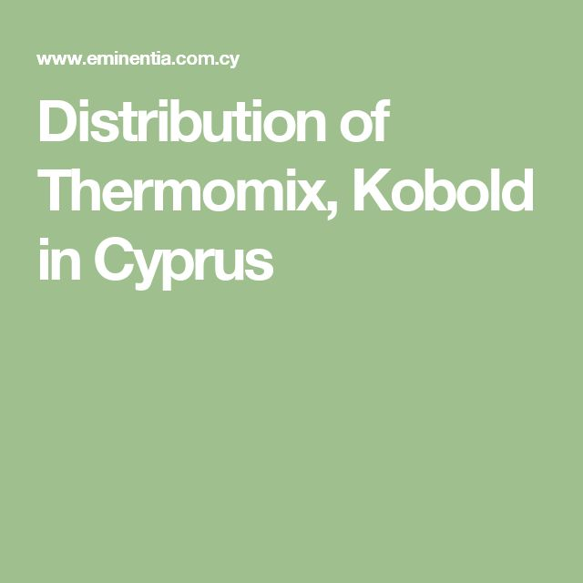 Distribution of Thermomix, Kobold in Cyprus