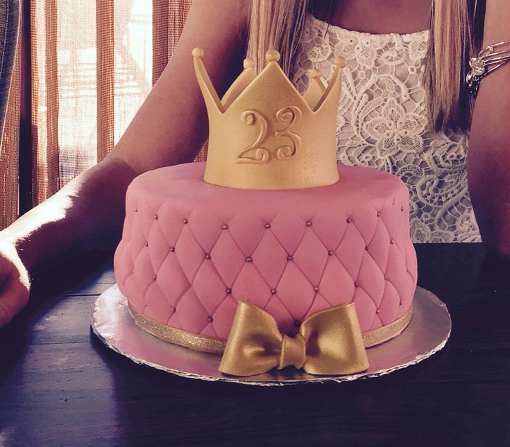 Girly birthday cake for my 23rd birthday.  This cake was made by https://www.facebook.com/ro.something.sweet.cakes/