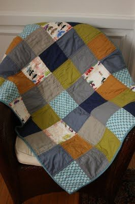 quilt- make with Dad's shirts.  Basic...: Quilts Inspiration, Baby Quilts, Color, Baby Boys Quilts, Cars Quilts, Boy Quilts, Baby Clothing, Photo, Quilts Ideas