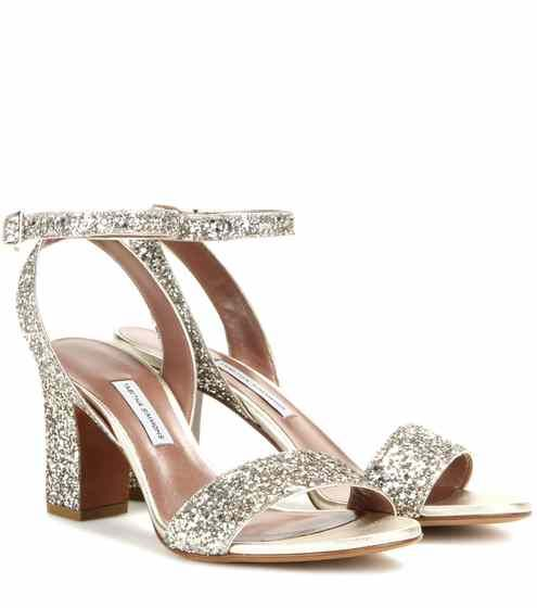 Leticia glitter-embellished sandals | Tabitha Simmons