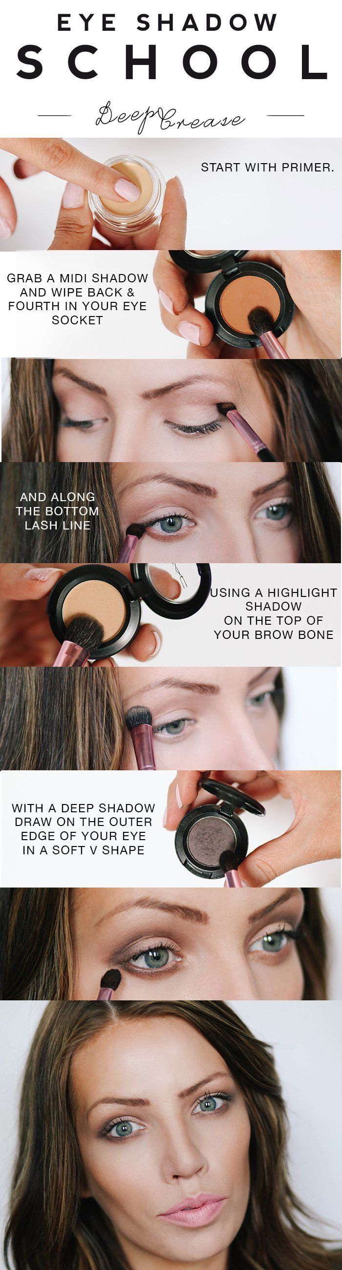 I now present you THE DEEP CREASE. I'll be the first to say I'm NOT the first gal to do a pictorial for this shadow technique. It's probably the most commonly talked about eyeshad…