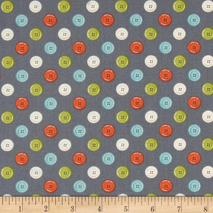 Designed by The Henley Studio for Andover, this cotton print fabric is perfect for quilting, apparel and home decor accents. Colors include orange, lime, ivory and green on a grey background.