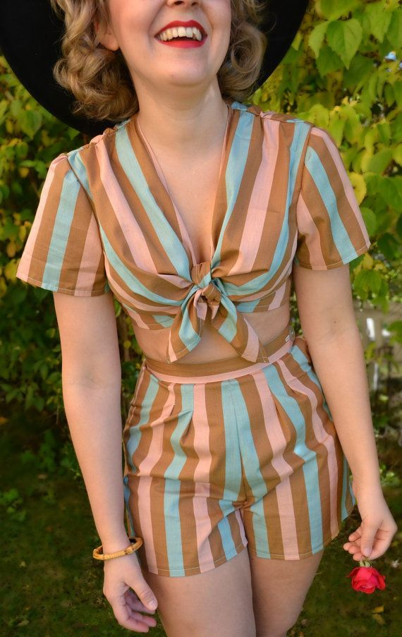 Gorgeous playsuit made by Stockholm Svanered   Etsy.
