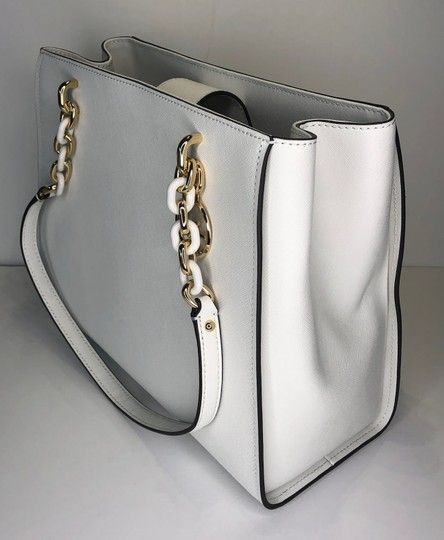 24c20a55f3da Michael Kors Sofia Large Tote Optic White Leather Satchel. Save big on the Michael  Kors Sofia Large Tote Optic White Leather Satchel! This satchel is a top ...