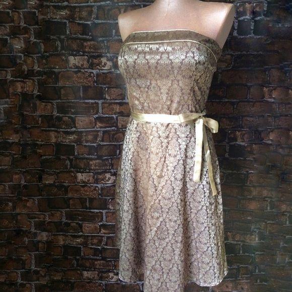 Golden n white dress ne york