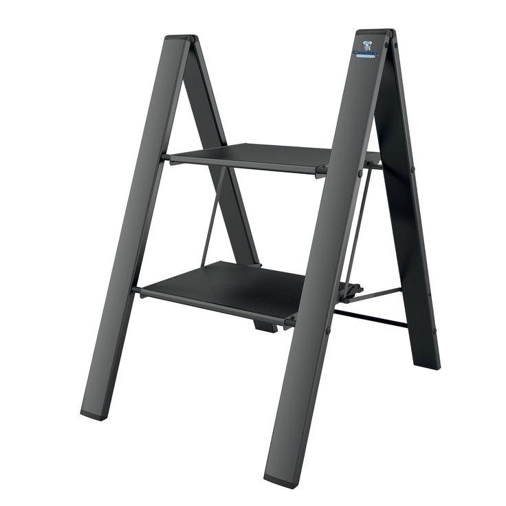 Alu-Klapptritt LEONARDO schwarz - (3302.4) in Heimwerker, Werkzeug, Leitern   eBay!